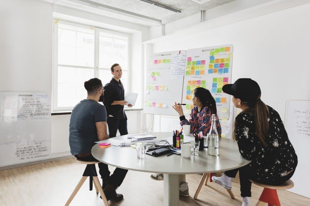 Exemplo de escritório de uma startup