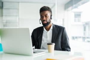 profissional focado no sucesso do cliente